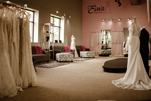 evas bridal center showroom